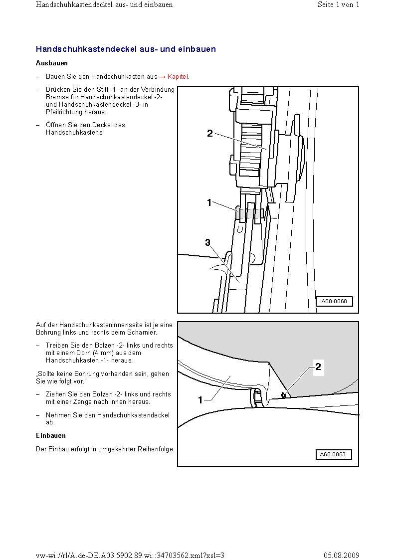 handschuhkastendeckel a e handschuhfach gebrochen audi. Black Bedroom Furniture Sets. Home Design Ideas