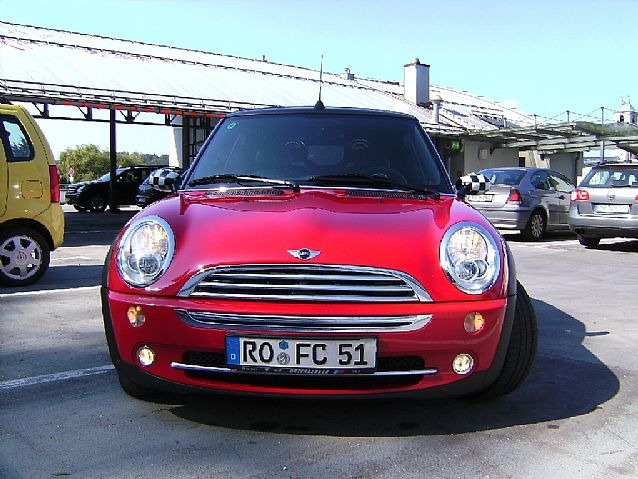 bild 202768435 mini cooper cabrio 10 2005 rot. Black Bedroom Furniture Sets. Home Design Ideas