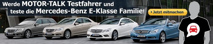 Gewinne eine Testfahrt mit der Mercedes E-Klasse